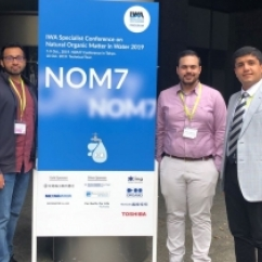 Naras Rao, Anthony Agostino and Sina Moradi presented at the 7th IWA Specialist Conference on Natural Organic Matter in Water