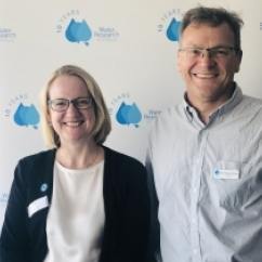 A/Prof Henderson and Prof Stuetz attend the WaterRA AGM